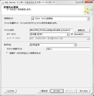 基本はANSI日本語Shift,JISになる。 Shift,JISへの変換は、拡張コードの記号類が文字化けすることがあるので注意。